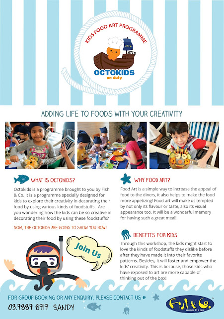 Octokids on Duty, Educational Programme , The Food Art Programme by Fish & Co.,The Food Art Programme, kids programme, how to enhance kids creativity, why food art programme,