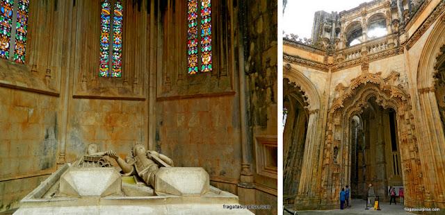 Túmulo de D. Duarte e da rainha  Leonor nas Capelas Imperfeitas Mosteiro da Batalha, Portugal