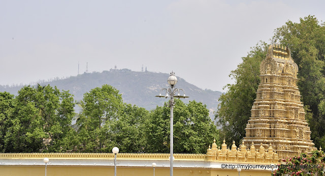 Chamundi Hills view from Mysore Palace