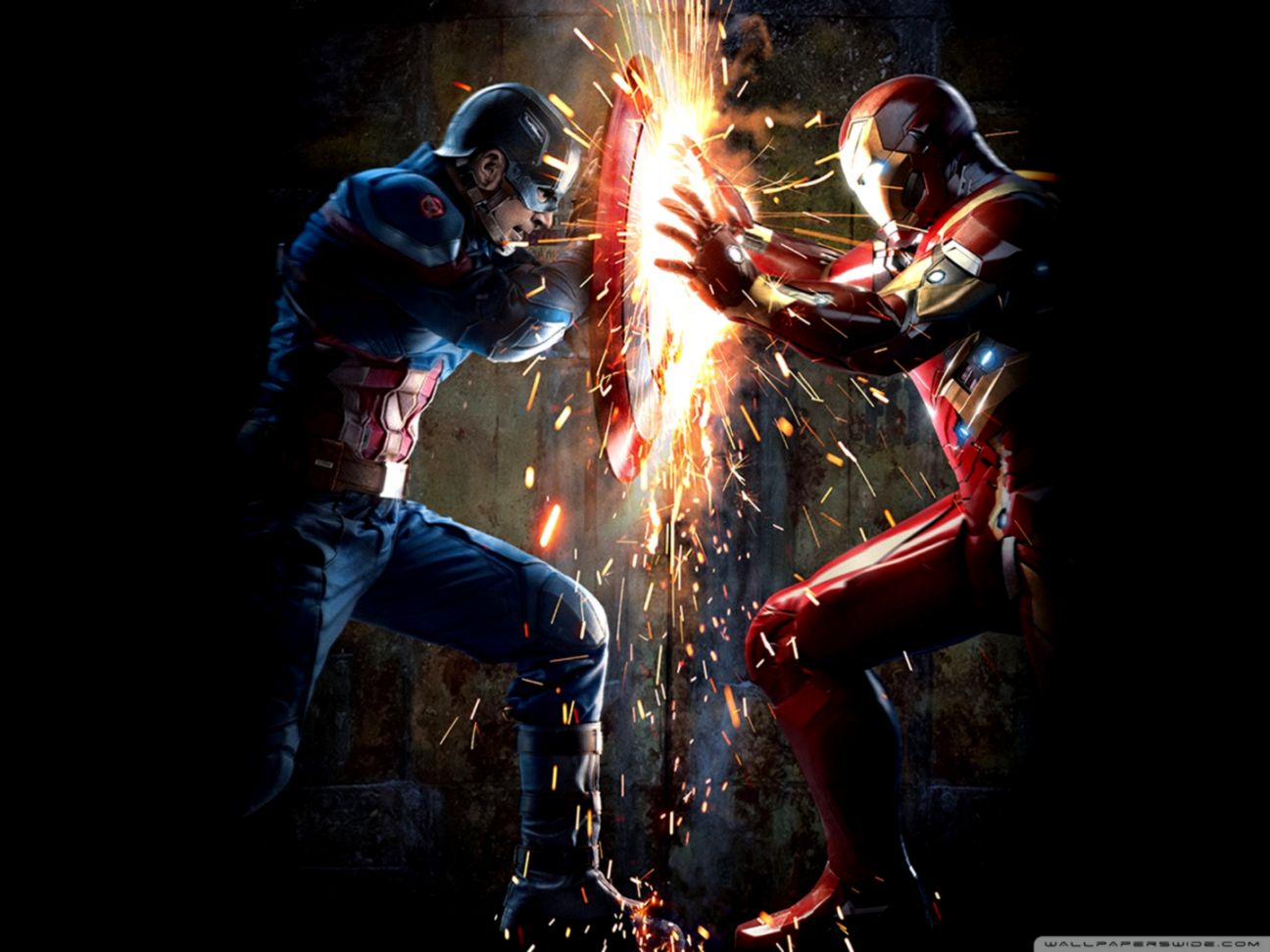 Captain America Iron Man Wallpapers Wallpapers Space