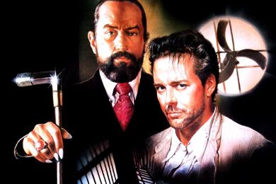 Robert de Niro y Mickey Rourke en Angel Heart