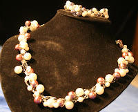Bride and Groom: necklace & bracelet set - sterling silver, freshwater pearls, crochet :: All the Pretty Things