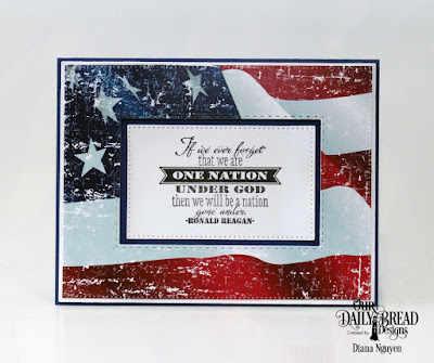Our Daily Bread Designs Stamp Set: Justice For All, Paper Collection: Stars and Stripes, Custom Dies: Pierced Rectangles, Double Stitched Rectangle