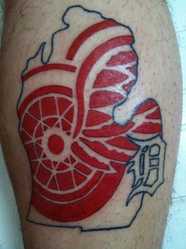 Esta red wings tatuagem