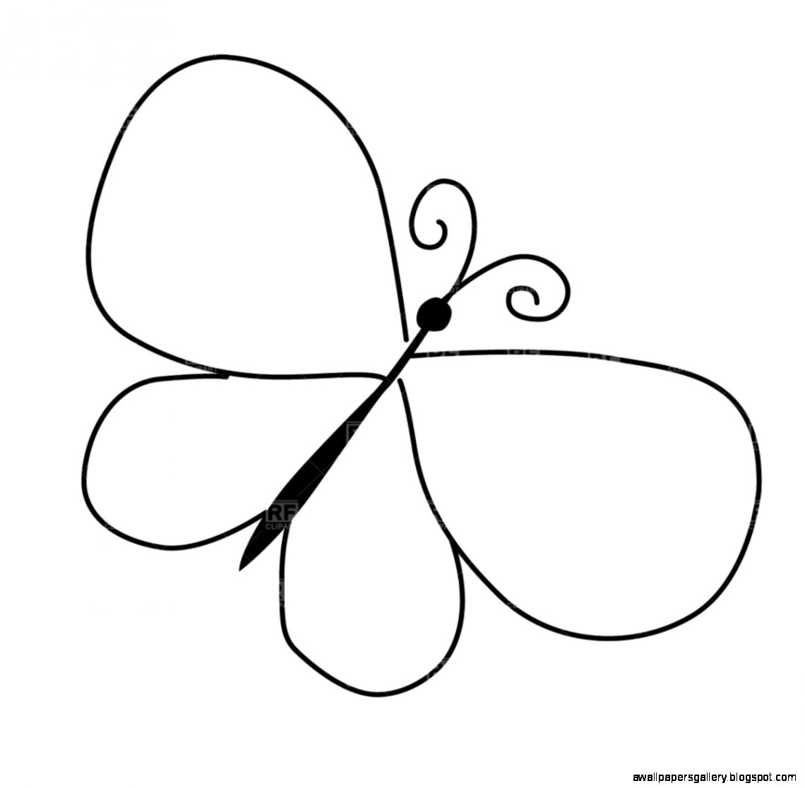 Butterfly outline easy. Clipart wallpapers gallery