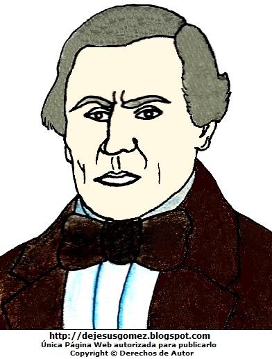 Dibujo de José de la Torre Ugarte pintado a colores, dibujo de José de la Torre Ugarte para niños. Dibujo de José de la Torre Ugarte hecho por Jesus Gómez