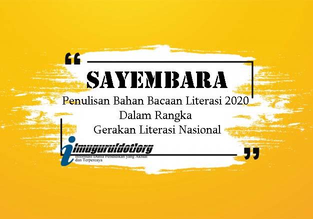 Sayembara Penulisan Bahan Bacaan Literasi 2020