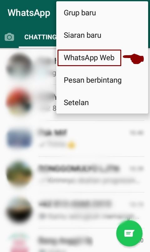 cara setting whatsapp web di pc komputer