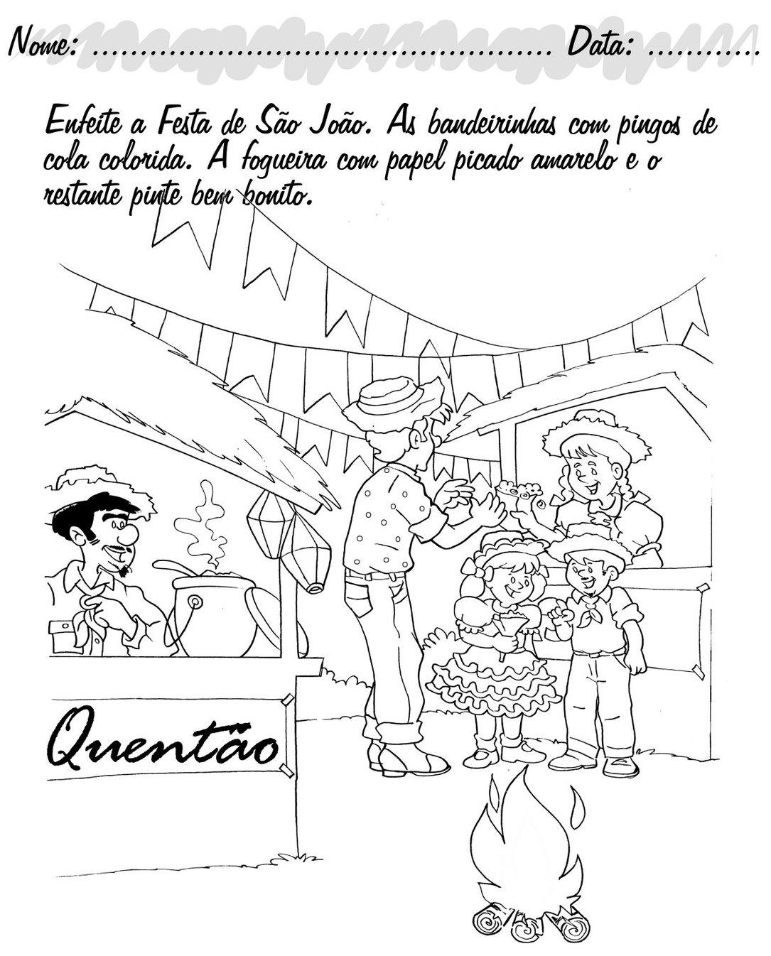 ATIVIDADES FESTA JUNINA SÃO JOÃO SANTO ANTÔNIO SÃO PEDRO