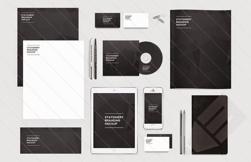 Free PSD Stationery Branding Mockup Pack