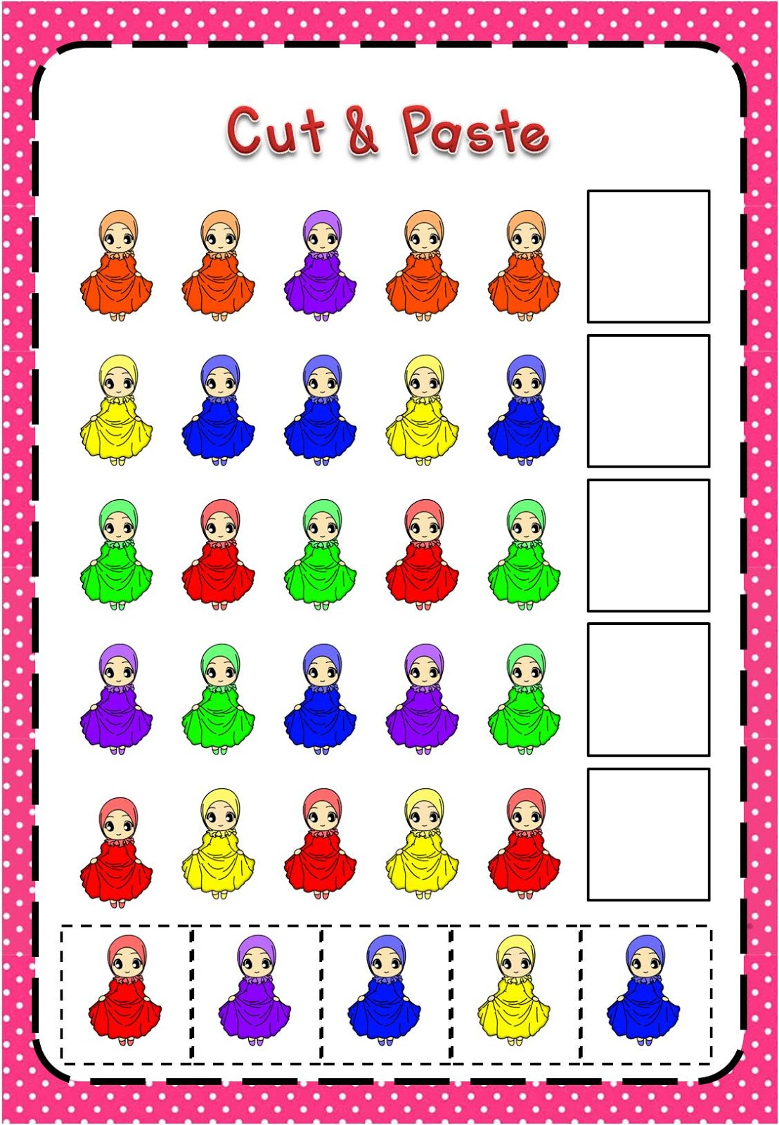 Free Islamic File Folder Games Islamic Homeschooling Worksheets