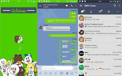 BBM Mod Line Messenger 3.3.6.51 di Android Release Terbaru