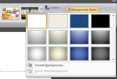 Memilih Background Style