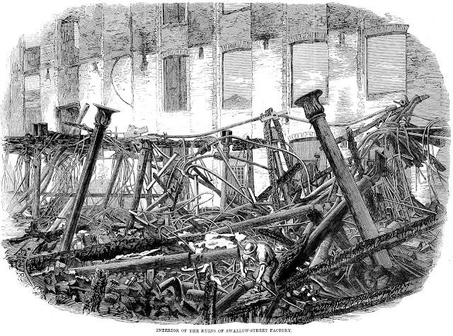 1860 factory fire ruins
