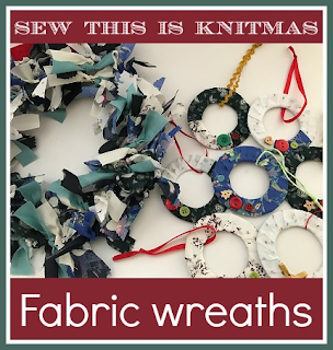 How to make two different types of fabric wreath