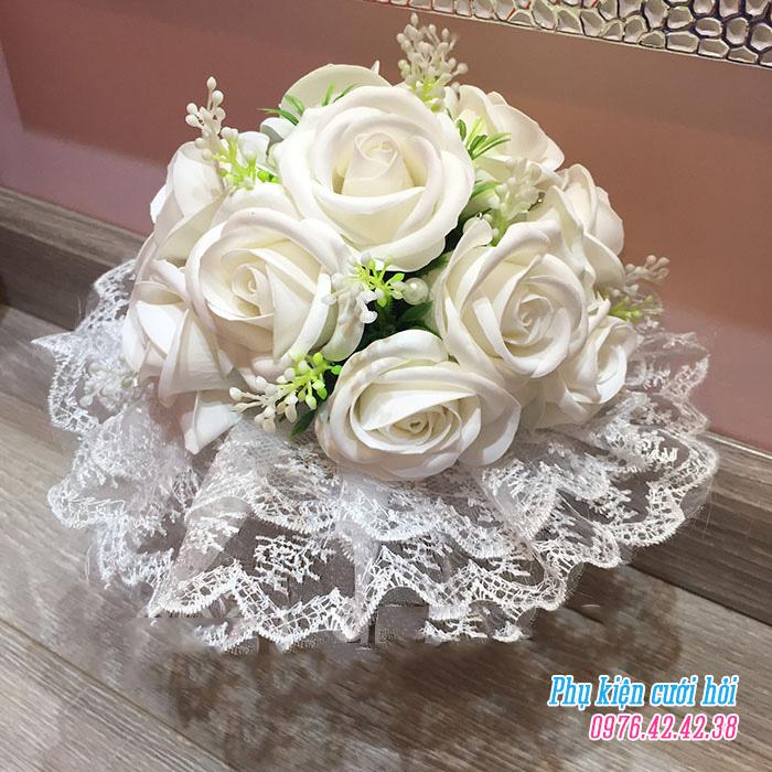 Hoa cam tay co dau HC019