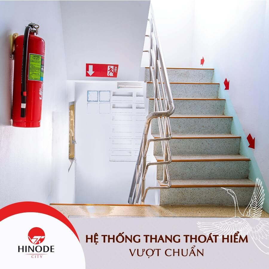 Hinode City đồng bộ hệ thống thang thoát hiểm đạt chuẩn