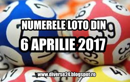 Numerele loto din 6 aprilie 2017