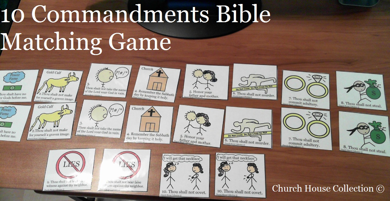Church House Collection Blog 10 Commandments Bible Matching Game Printable