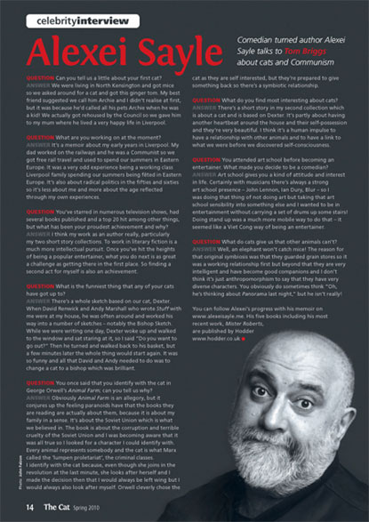 The Cat magazine interview with Alexei Sayle