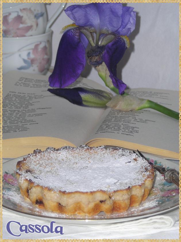 Dolce di ricotta uvetta e cannella tipico ebraico