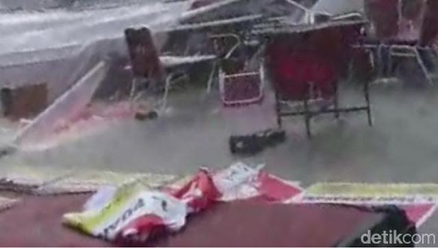 Tenda Ambruk Diterjang Angin, Lomba Lukis Puan Maharani di Solo Bubar