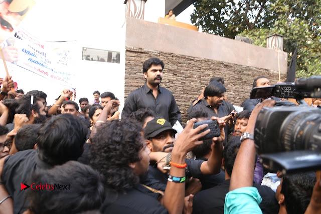 Tamil Actor Simbu (Silambarasan) Press Meet on Jallikattu Issue  0001.JPG