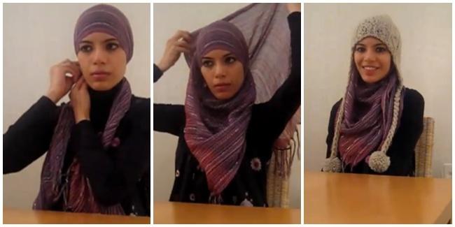 Trik Paduan Gaya Hijab Dan Topi 07d323eb0a