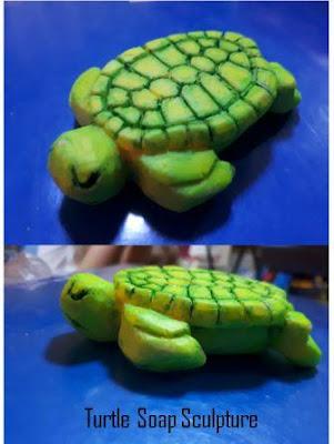 turtle soap sculpture