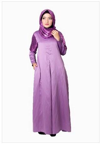 15 Koleksi Baju Muslim Gamis Satin Terbaru Untuk Acara Pesta