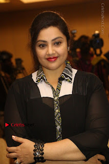Tamil Actress Meena Latest Stills in Black Dress at TSR TV9 Awards Press Meet  0074.JPG