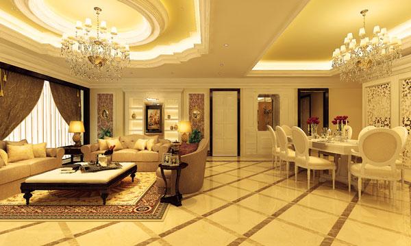 nội thất biệt thự tân cổ điển masteri villas