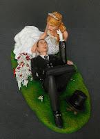 statuina torta nozze personalizzate cake topper bombetta tartaruga orme magiche