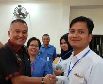 Kadis Infokom Asahan Rahmat Hidayat di acara Bimtek TIK.