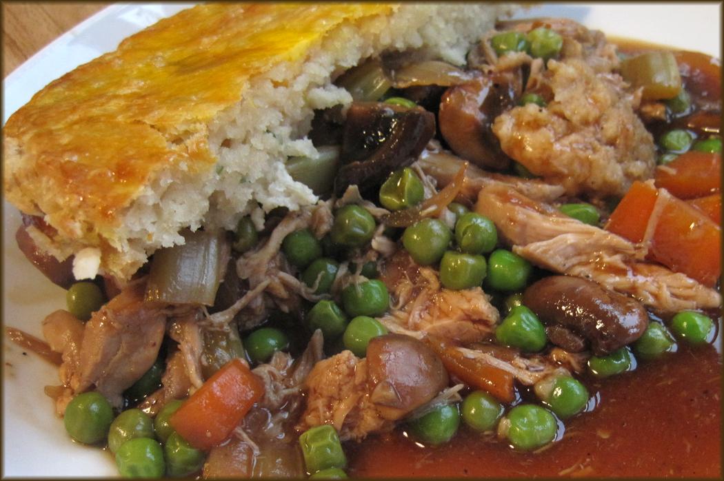 Chicken Pot Pie with Suet Crust