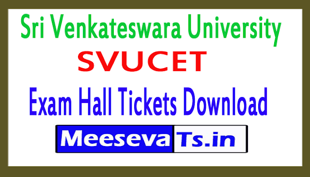 Sri Venkateswara University SVUCET Exam Hall Tickets Download 2018