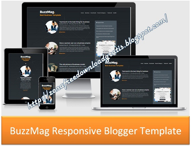 BuzzMag Responsive Blogger Template