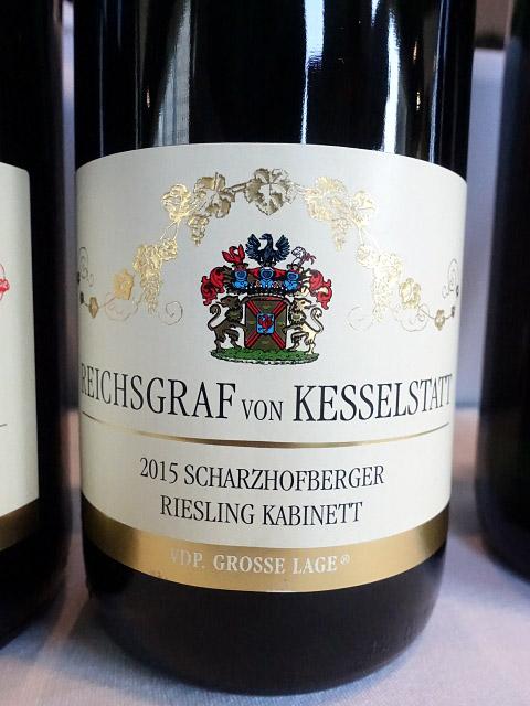 Reichsgraf von Kesselstatt Scharzhofberger Riesling Kabinett 2015 (90 pts)