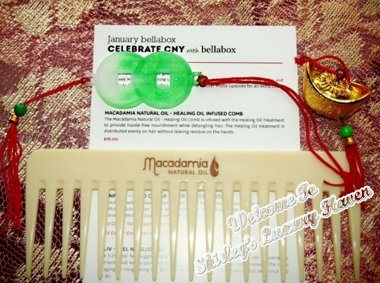 bellabox macadamia natural oil infused hair comb