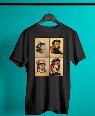Renaissance Artists Ninja Turtles T Shirt, Renaissance Artists Ninja Turtles Hoodie