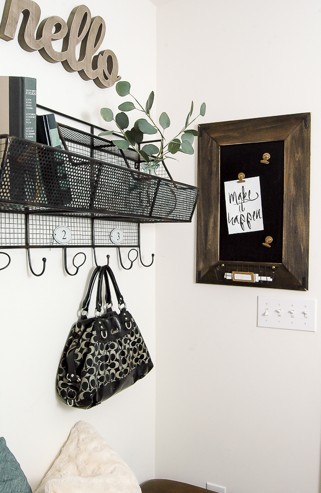 Dollar Tree wire basket turned farmhouse decor
