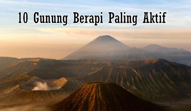 gunung berapi yang paling aktif