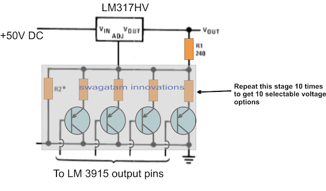 LM317 variable voltage selection with push buttons