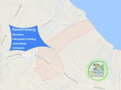 PETA : Desa Rawameneng, Kecamatan Blanakan