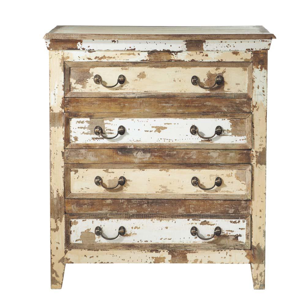 Como Envejecer Un Mueble Blanco Latest Blog Sobre Decoracion  # Muebles Efecto Desgastado