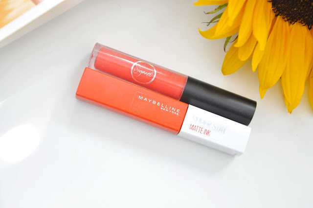pomadka matowa maybelline superstay matte ink heroine, sigma lip eclipse she knows the ropes