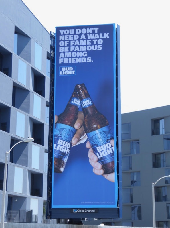 Bud Light Walk of Fame friends billboard