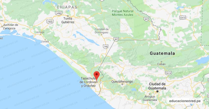 Temblor en México de Magnitud 4.4 (Hoy Sábado 13 Abril 2019) Sismo - Terremoto - EPICENTRO - Tapachula de Córdova y Ordóñez - Chiapas - SSN - www.ssn.unam.mx
