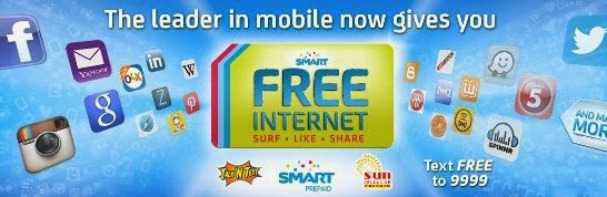 SMART Communications gives its subscribers free mobile internet every day for two months.