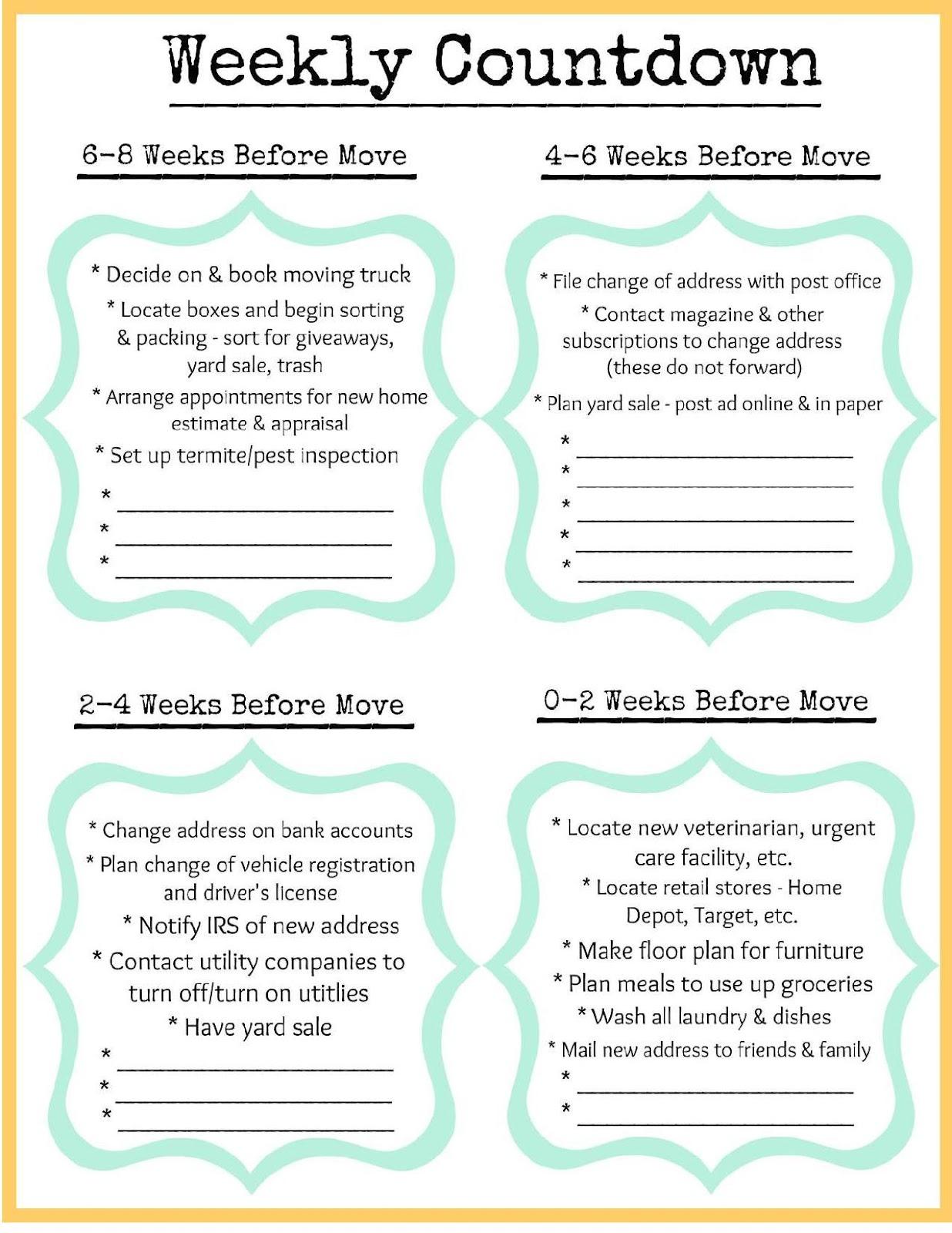 New Home Binder Free Printables